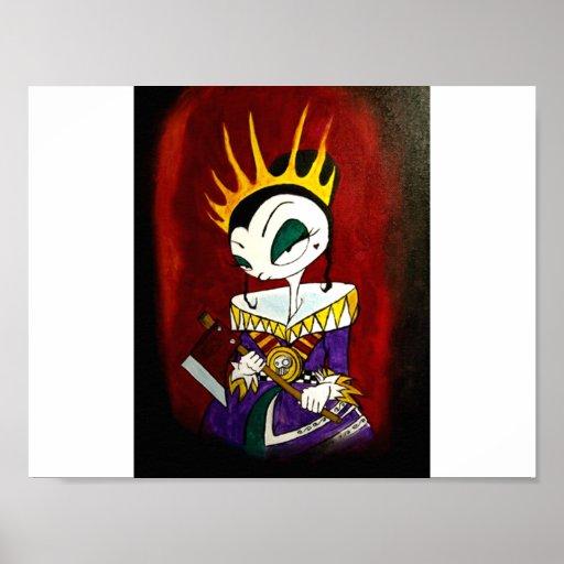 Queen of Broken Hearts poster by Kenyon