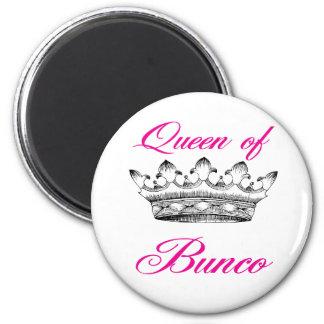 queen of bunco 2 inch round magnet