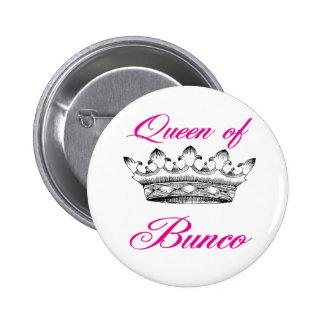 queen of bunco pinback button