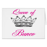 queen of bunco greeting card