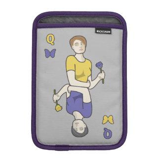 Queen of Butterflies Card Girl iPad Mini Sleeve