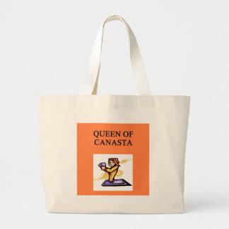 (queen of canasta tote bags