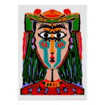 Queen of Cards Abstract Poster