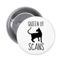 Queen of CAT Scans Pinback Button