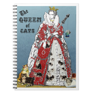 Queen of Cats Mousepad Spiral Note Book
