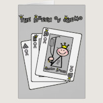 Queen of Chemo Brain Cancer / Tumor Card