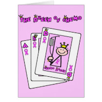 Queen of Chemo - Breast Cancer Pink Ribbon Card
