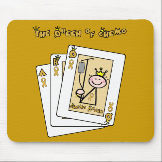 Queen of Chemo - Childhood Cancer Gold Ribbon Mouse Pad