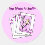 Queen of Chemo Classic Round Sticker