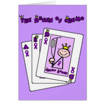 Queen of Chemo Hodgkins Lymphoma Card