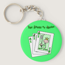 Queen of Chemo Keychain