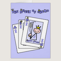 Queen of Chemo - Lavender Ribbon General Cancer Card