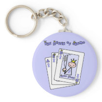 Queen of Chemo - Lavender Ribbon General Cancer Keychain