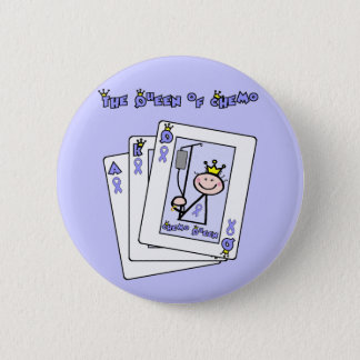 Queen of Chemo - Lavender Ribbon General Cancer Pinback Button