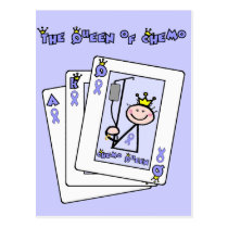 Queen of Chemo - Lavender Ribbon General Cancer Postcard