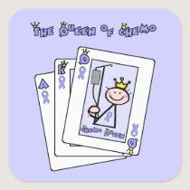 Queen of Chemo - Lavender Ribbon General Cancer Square Sticker