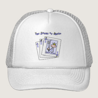 Queen of Chemo - Lavender Ribbon General Cancer Trucker Hat