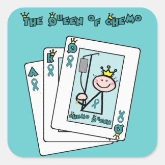 Queen of Chemo Square Sticker