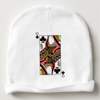 Queen of Clubs - Add Your Image Baby Beanie