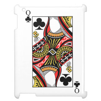 Queen of Clubs - Add Your Image Cover For The iPad 2 3 4