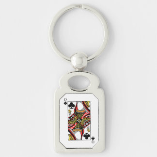 Queen of Clubs - Add Your Image Keychain