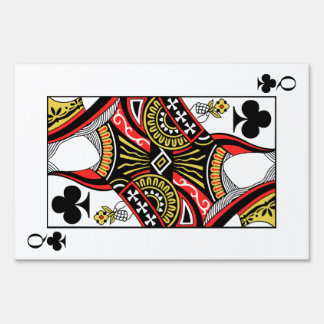 Queen of Clubs - Add Your Image Sign