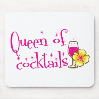Queen of cocktails! with wine glass tropical mouse pad