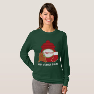 Queen of cookie baking Christmas t-shirt