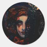 Queen of Darkness Classic Round Sticker