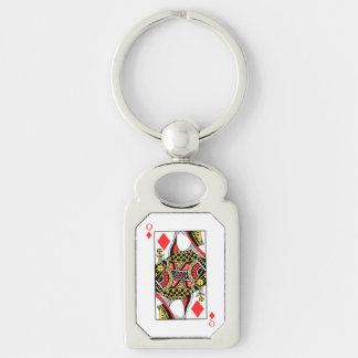 Queen of Diamonds - Add Your Image Keychain