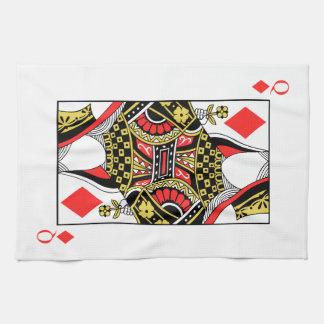 Queen of Diamonds - Add Your Image Kitchen Towel