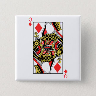 Queen of Diamonds - Add Your Image Pinback Button