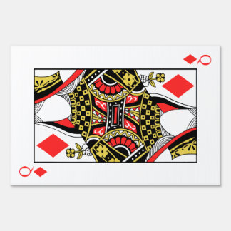 Queen of Diamonds - Add Your Image Yard Sign