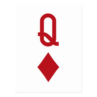 Queen of Diamonds Red Playing Card