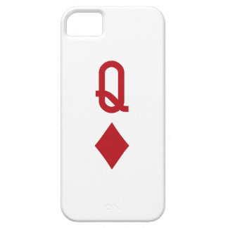 Queen of Diamonds Red Playing Card iPhone 5 Covers