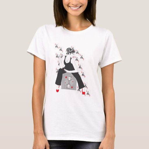 Queen of diamonds t shirt zazzle for Diamond and silk t shirts