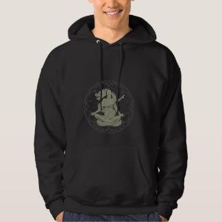 queen of dragon design hoodie