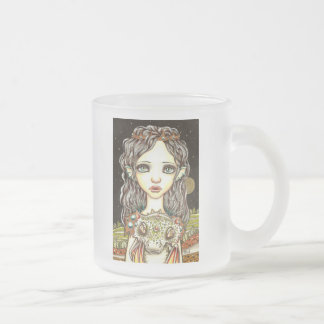 Queen of Dragons Frosted Glass Coffee Mug
