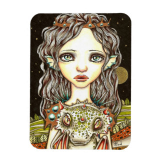Queen of Dragons Rectangle Magnets