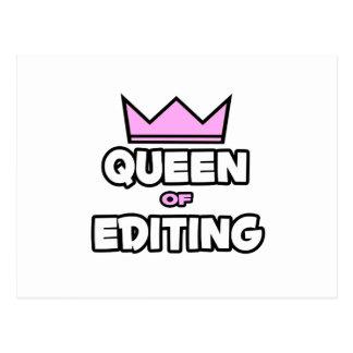Queen of Editing Postcard