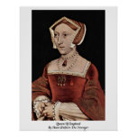 Queen Of England By Hans Holbein The Younger Poster