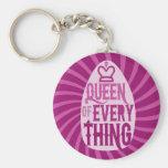 Queen of Everything Basic Round Button Keychain