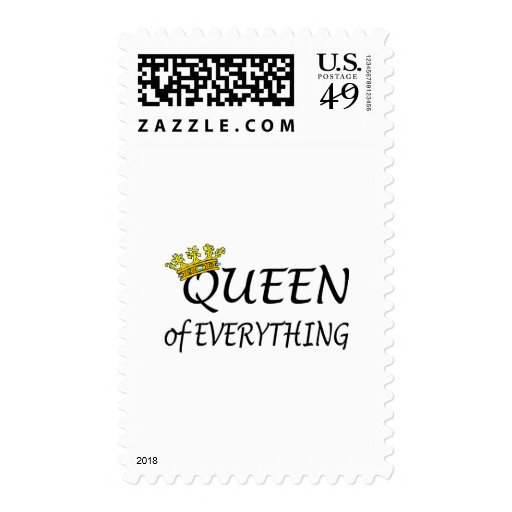 Queen Of Everything Crown Postage Stamps
