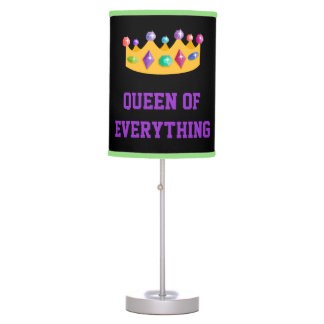 Queen Of Everything Crown Table Lamp
