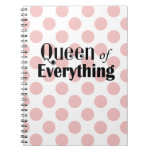 Queen of Everything Pink Polka Dots Notebooks
