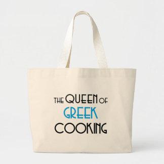 Queen of Greek cooking Jumbo Tote Bag