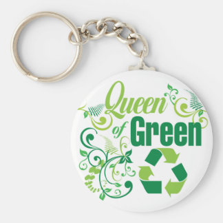 Queen of Green Keychain
