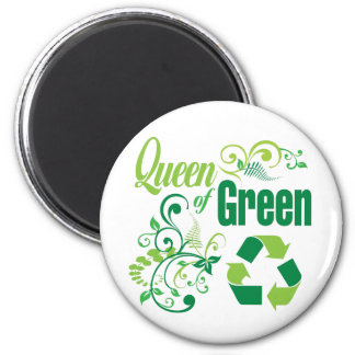 Queen of Green Refrigerator Magnets