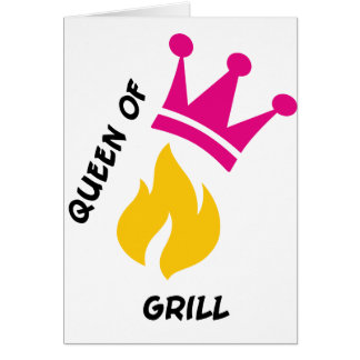 Queen of Grill Greeting Cards