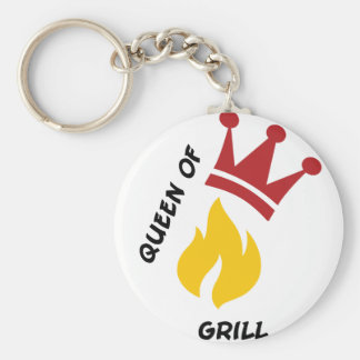 Queen of Grill Key Chain